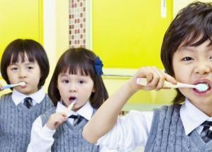 Teeth brushing feature
