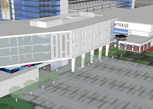 University Mall rendering feature