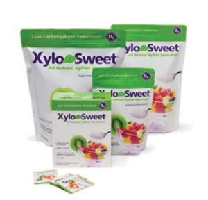 LOVE-LOVE  RELATIONSHIP  WITH XYLITOL Just as sweet and tasteful as table sugar with 1/3 calories. Safe for diabetics and  hypoglycemics. Gets into the cells  without insulin. Has a glycemic index of 7.