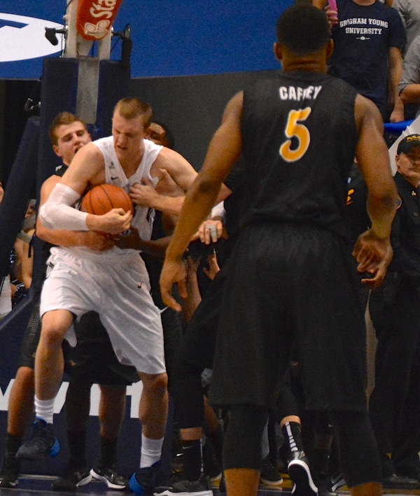 Nate Austin will provide welcomed rim protection and rebounding for the 2015 Cougars. (Photo by Rebecca Lane)
