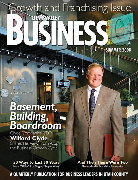 Wilford Clyde was featured in the Summer 2008 issue of Utah Valley BusinessQ.