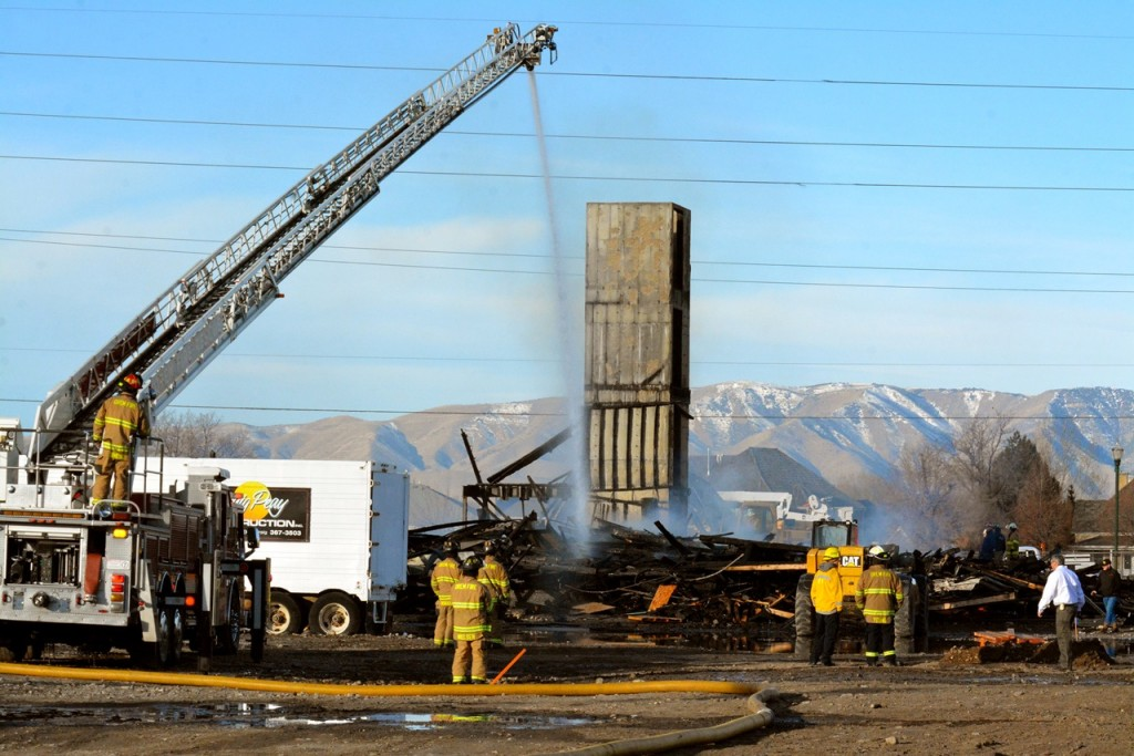 Around 3:30 a.m. Thursday morning the Sun Canyon Villas construction project, which is just south of Midtown 360 between State Street and Orem Boulevard, was set on fire. (Photo by Matt Bennett)
