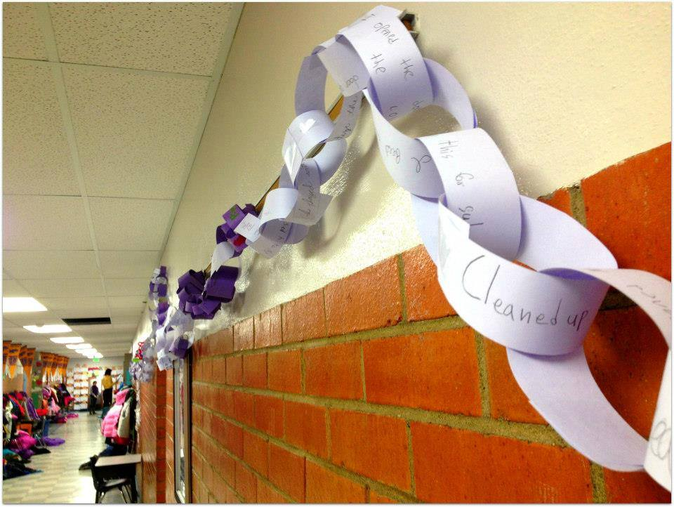 The Provo School District's schools have been creating chains with kind acts written on them. (Photo courtesy Provo Council PTA)