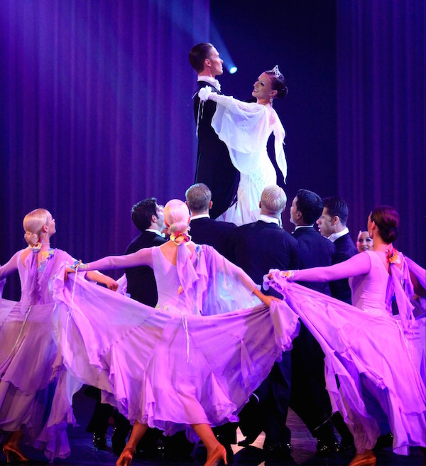 The BYU Ballroom Dance Team takes to the Marriott Center Friday and Saturday night. (Photo by BYU Photo)