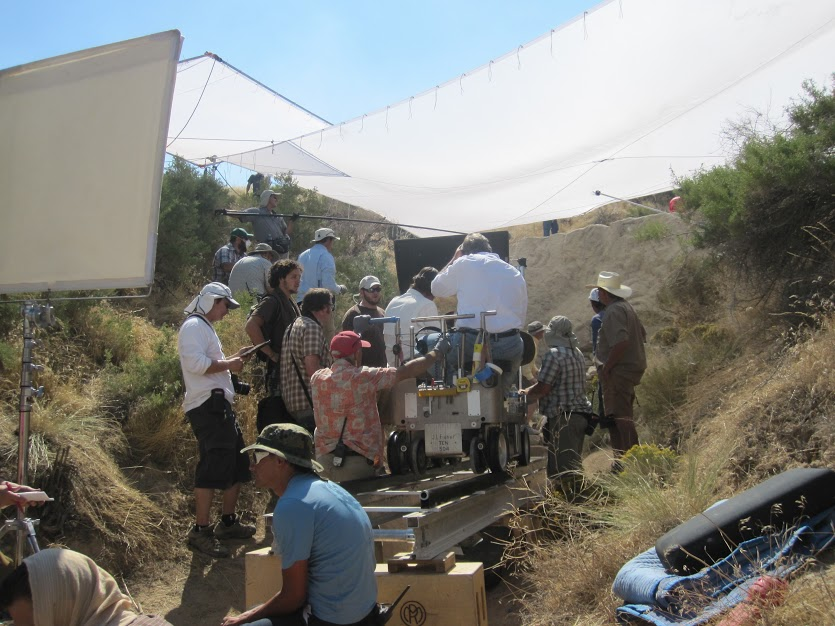 A film crew for The Church of Jesus Christ of Latter-day Saints works on a production that uses the small Utah Valley town of Goshen as the Holy Land. (Photo courtesy of Utah Film Commission)