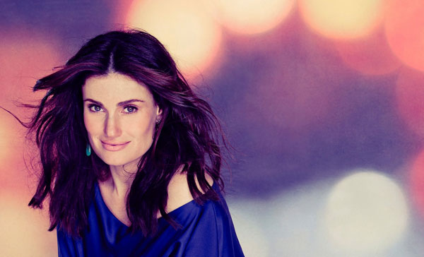 "Idina Menzel poses for a ""Frozen""-inspired photo. Menzel will perform in the second Utah Stars and Friends concert this year, scheduled for _________."