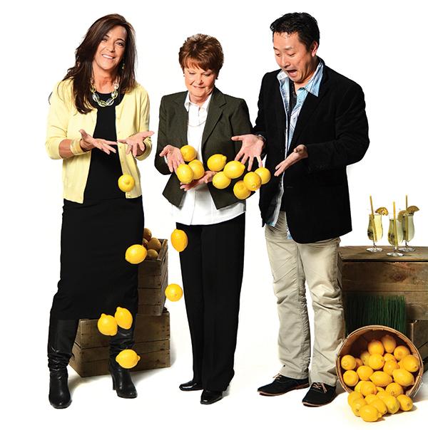 From left to right: Karen Larsen, Carol Verbecky and Masa Fukuda.
