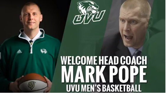 Mark Pope, a BYU assistant basketball coach, was named the new head basketball coach for Utah Valley University.