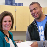 Kyle Van Noy accidentally switches laptops with Traverse Mountain Elementary's principal
