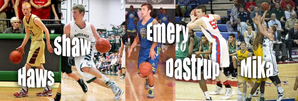 While players like T.J. Haws, Braiden Shaw, Payton Dastrup and Eric Mika won't be available until the 2016 season, players like Nick Emery (center) will start contributing this coming fall.