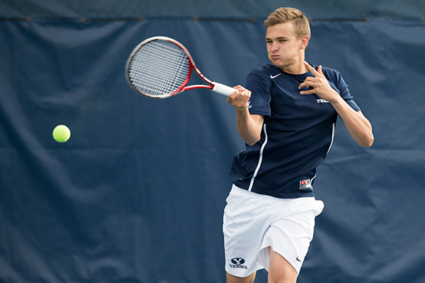 BYU tennis player Aiden Carrazedo is from South Africa. Photo by BYU Photo.