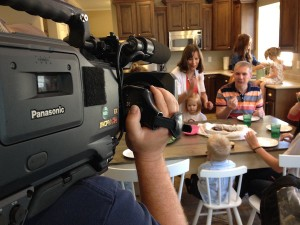 This was the final scene we filmed. This is the scene at the end of our episode where House Hunters shows us enjoying our new home with our family and friends.