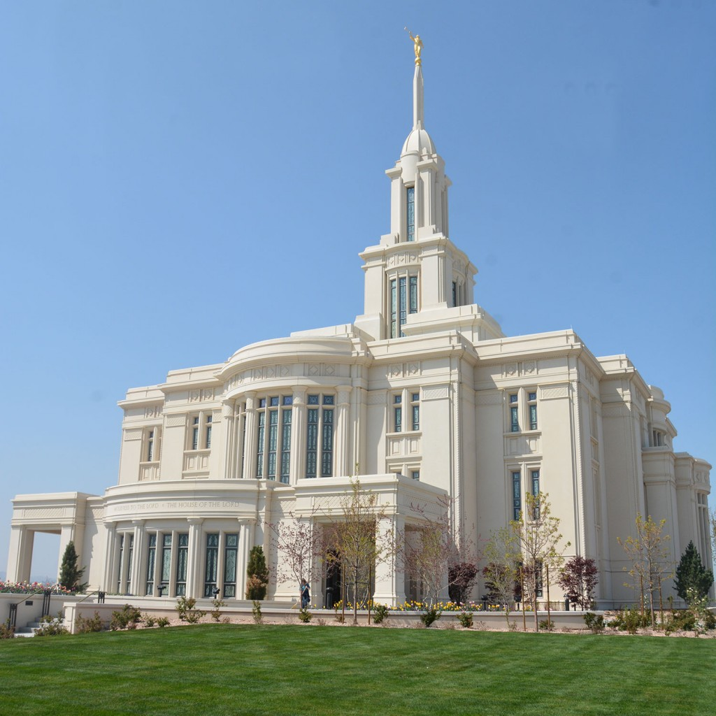 The Payson Utah Temple opened (Photo by Rebecca Lane)