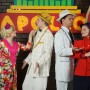 """Alyssa Orme is Alelaide; Bryan Thacker is Nathan Detroit; Corey Morris is Sky Masterson; and Cheyenne Lee is Sarah Brown in the SCERA's production of """"Guys and Dolls."""" (Photo by Mark Philbrick)"""