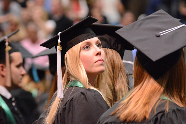 Utah Valley University held the 2015 commencement ceremony for 5,341 students Thursday night. (Photo by Alisha Gallagher)
