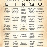 2015 LDS General Conference Bingo cards