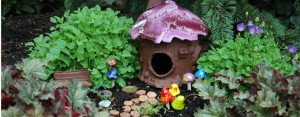 Create a fairy haven with Plum Scrumptious's mix-and-match garden items. (Photo courtesy of Beehive Bazaar)