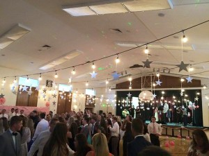 "The theme for Audrey's prom was ""night under the stars."" More than 200 Lone Peak High School students participated in the second prom. (Photo courtesy Midge Rhodes)"