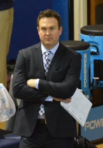 Chris McGown resigned as BYU head men's volleyball coach to spend more time with his family. (Photo by Rebecca Lane)