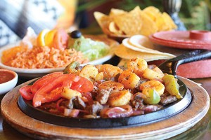 Los Hermanos' fajitas are a customer favorite.