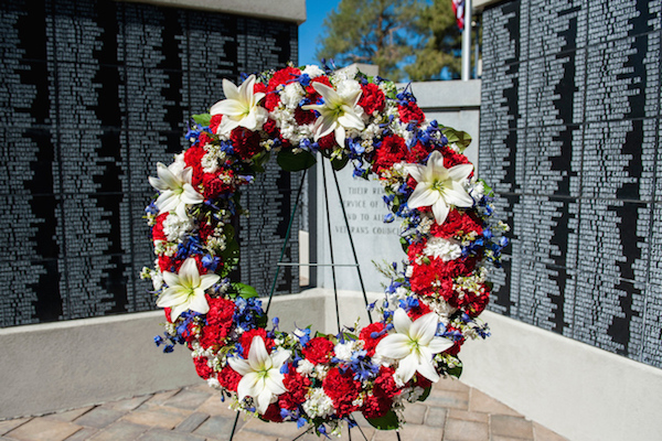 A wreath decorates a Memorial Day celebration in Provo. (Photo courtesy Provo city)