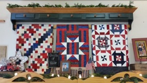 The Corn Wagon Quilt Co. in Springville donated supplies to help Tami Johnson make Quilts of Valor for U.S. servicemen. (Photo courtesy Tami Johnson)