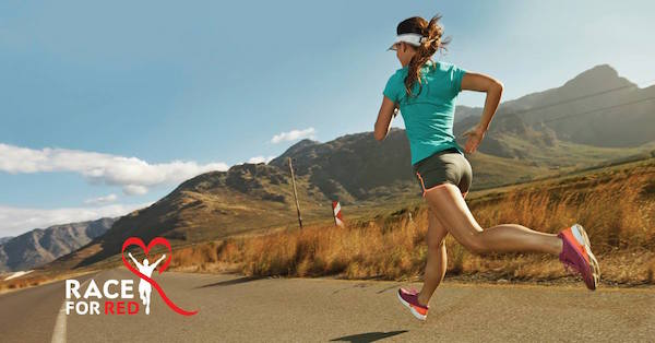 The Race for Red 10k, 5k, and 1-mile run was created to help people understand what it takes to prevent heart disease. (Photo courtesy Utah Valley Regional Medical Center)