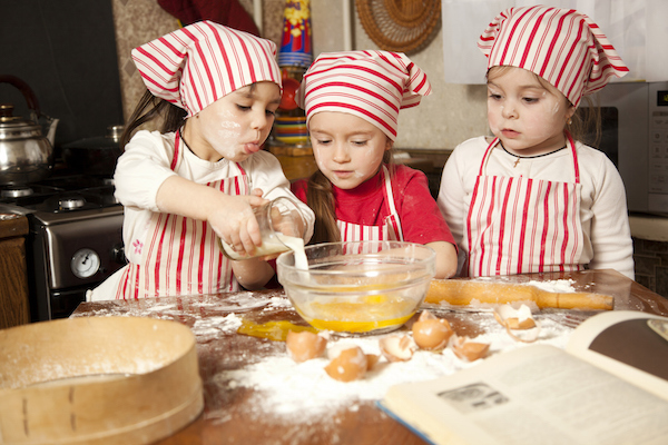 Young chefs cooking