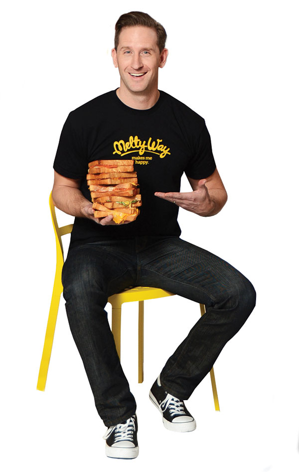 Melty Way CEO Dave Nibley whet our appetite for grilled cheese when he brought sandwiches to the Fab 40 photo shoot for our March issue. (Photo by Dave Blackhurst)