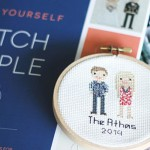 Made in UV: Cross-stitched family portraits, shakes for kids