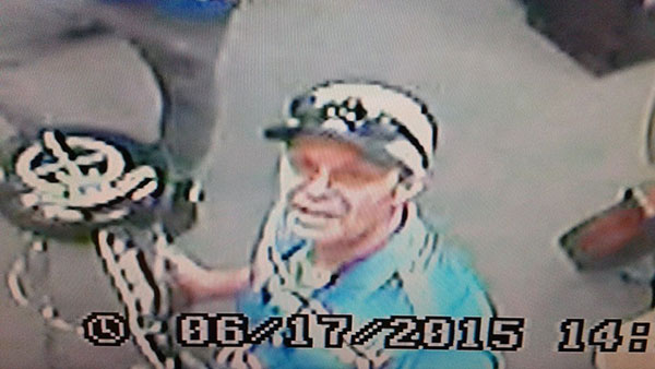Orem police are searching for a man who reportedly took musical instruments from a business in that city. If you recognize the man in the photos, call police at (801) 229-7070. (Photo courtesy Orem police)