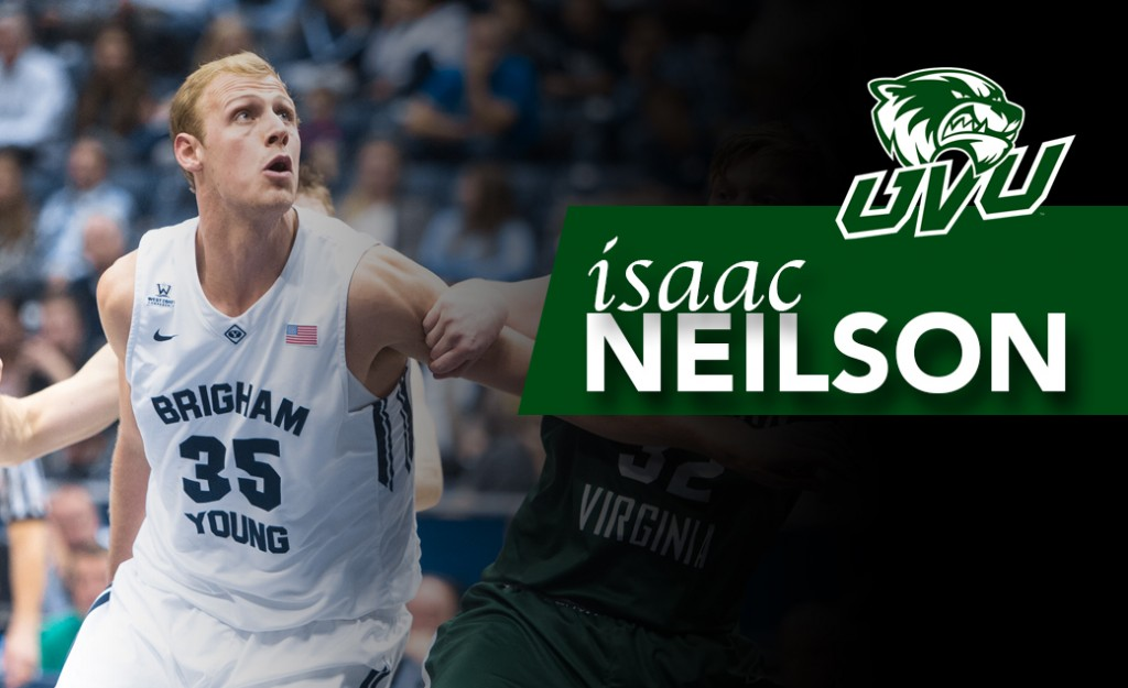 Forward Isaac Neilson is transferring across town from BYU to UVU.  (Photo courtesy UVU)