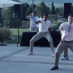 VIDEO: Brandon Davies breaks it down with groomsmen (former BYU athletes) at his wedding