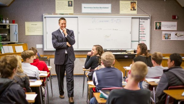 (Image of seminary class courtesy Mormon Newsroom.)