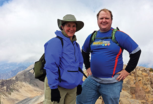 Take a Hike. TestOut gets out with company-sponsored hikes, bikes and runs, including this jaunt up Mount Timpanogos.