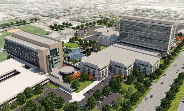 A rendering of Utah Valley Regional Medical Center's new additions. (Photo courtesy UVRMC)