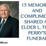 15 memories and compliments shared at Elder L. Tom Perry's funeral