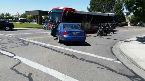 Orem police arrested a 36-year-old man after he shoplifted at Shopko and then crashed into a UTA bus. (Photo courtesy Orem police)