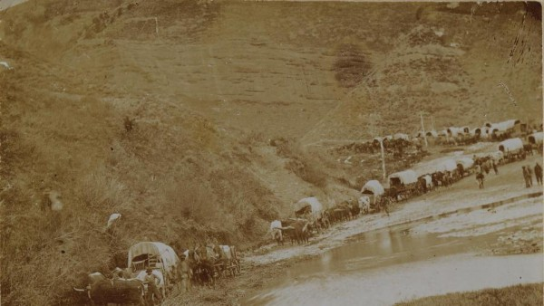 Mormon Pioneers in Echo Canyon in 1865. (Photo courtesy Mormon Newsroom.)