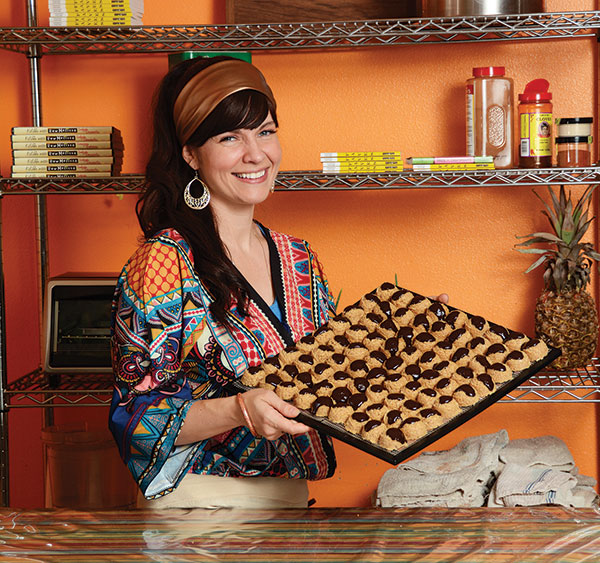 Melissa films the cooking shows found on her website, melissachappell.com, from her small commercial kitchen in Springville. One of her most popular treats is chocolate-covered macaroons.