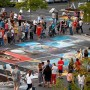 Chalk the Block has 150 slots at the Shops of Riverwoods featuring 400 chalk artists. (Photo courtesy Chalk the Block)