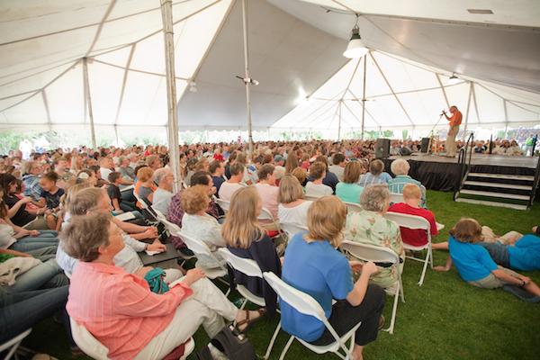 Donald Davison, one of the storytellers, shares a story at the Timpanogos Storytelling Festival. (Photo courtesy Timpanogos Storytelling Festival)