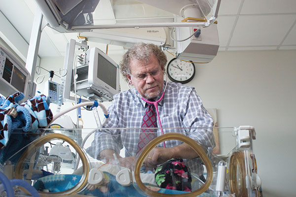 Dr. Stephen Minton brought the NICU to UVRMC in 1979, where he has since cared for more than 20,000 babies.