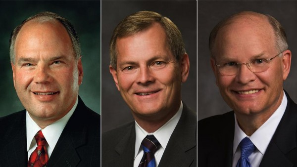 Elders Ronald A. Rasband, Gary E. Stevenson and Dale G. Renlund were called to the Quorum of the Twelve Apostles for The Church of Jesus Christ of Latter-day Saints on Saturday. (Photo courtesy LDS Church)