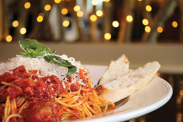 Mondays are spaghetti night at Oregano Italian Kitchen in downtown Provo, where the traditional recipe is served all-you-can-eat.