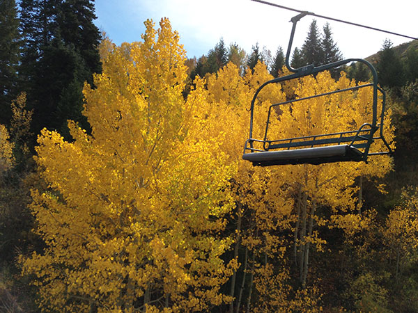 The Sundance Scenic Chair Lift Ride takes riders up Ray's Lift. (Photo by Rebecca Lane)