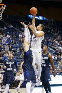 BYU freshman Jordan Chatman was out for a few games after injuring his ankle in the Cougar Tipoff, but is expected to contribute now that he is healthy. (Photo by Jaren Wilkey/BYU Photo)