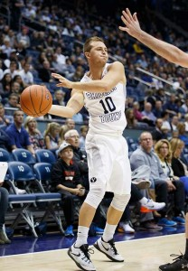 BYU freshman guard Cooper Ainge decided to leave the BYU basketball team. (Photo by Jaren Wilkey/BYU Photo)