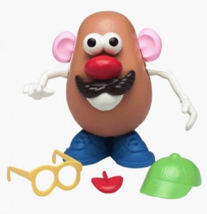 """Mr. Potato Head is a helpful toy in the """"Quiet Bag."""""""