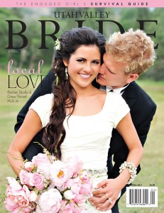 "Rachel Skalla and Drew Parcell's wedding graced the cover of the 2011 issue of Utah Valley Bride magazine, which Rachel credits with launching her career. ""Whenever I'm doing an interview — whether for Seventeen or Lucky — they always ask how I got started as a blogger,"" she says. ""I tell them that my wedding was featured in our local bride magazine right when Pinterest was getting big. Lots of Utah County girls saw the magazine article and photos and then googled my name."" From there, Rachel's following said ""I do"" and began asking her where she bought her clothes and accessories. ""My pictures got pinned and repinned, and that is what kickstarted my online following,"" Rachel says."